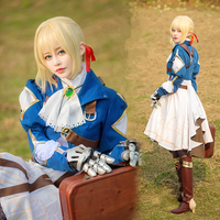 2019 New Violet Evergarden Cosplay Anime Violet Evergarden Costume Women Japanese Anime Costume Dress