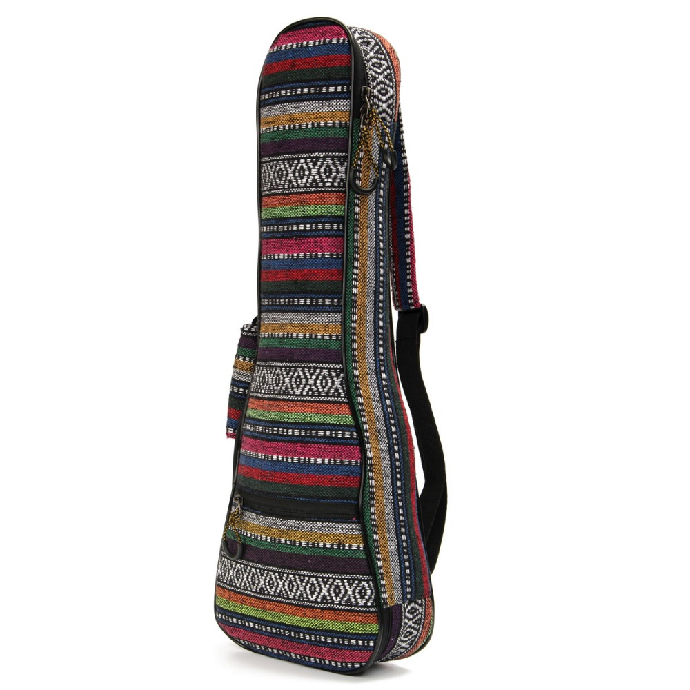 21 inch Ukulele Soft Pad Cotton Folk Style Hand Portable Bag Case Cover 12mm waterproof soprano concert ukulele bag case backpack 23 24 26 inch ukelele beige mini guitar accessories gig pu leather