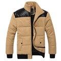 2016 Winter Autumn New Style Warm Men's Jacket Parka Thick Warm Stand Collar Long Cotton Jacket Men Comfortable Cotton Parka Men