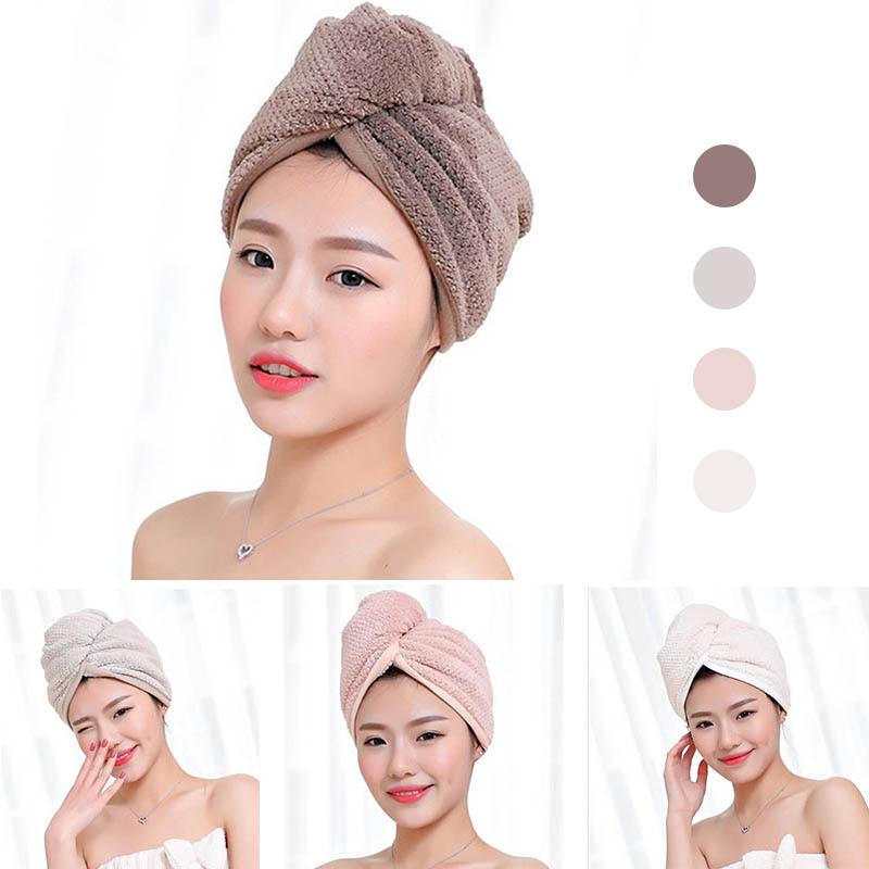 23*60cm 1 pc toalhas de secagem rápida tecido de microfibra chapéu de cabelo seco touca de banho senhora turbante toalha de banho absorvente