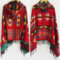 Winter 2015 Bohemia national wind hat jacquard scarf shawl Plaid Cape thickening air conditioning bandana wholesale