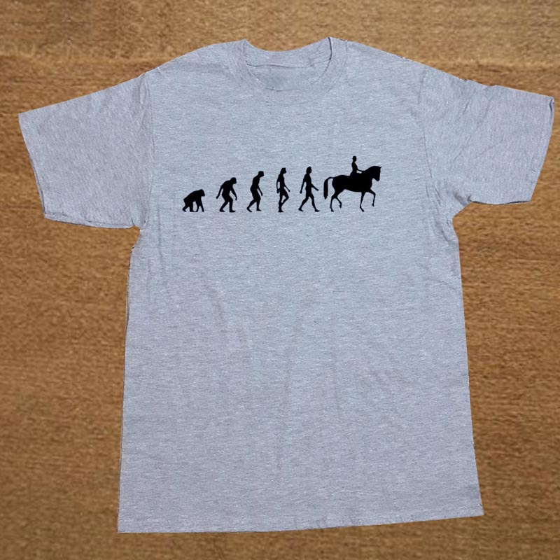 Human HORSE RIDER Evolution New T-shirt