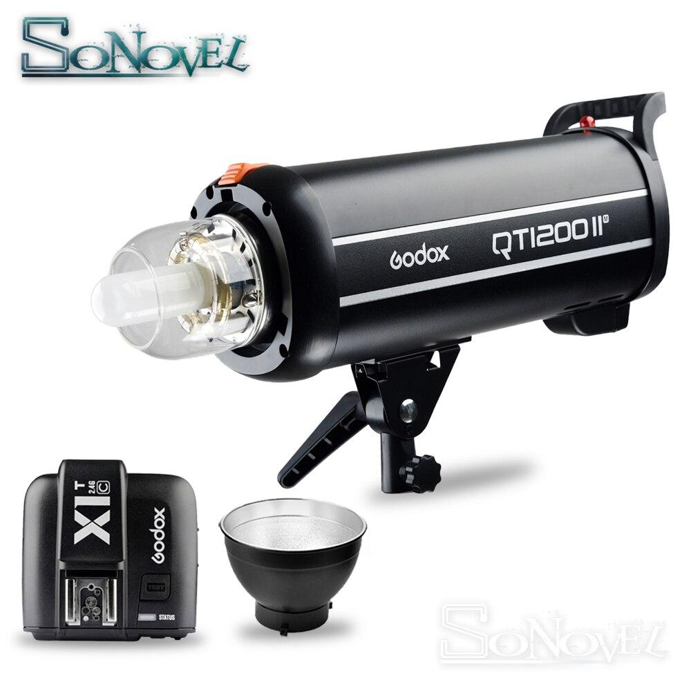 Godox QT1200II QT1200IIM 1200WS GN102 1/8000 s synchronisation à grande vitesse intégré dans 2.4G système sans fil X avec ampoule Flash lampe stroboscopique