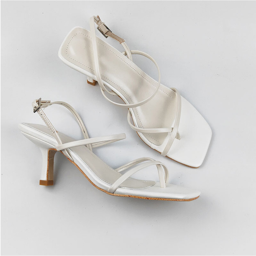 Genuine Leather Women's shoes Thin heel sandals 1