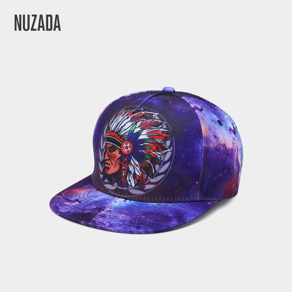 NUZADA 3D Printing Indian Tribes Totem Men Women Hip Hop Cap For Couple Bone Spring Summer Autumn Caps