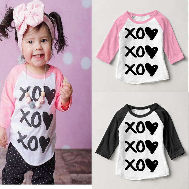 2017 Kids T Shirt little boy Girls T-Shirt Boys clothing Long Sleeve Tee Shirts Children cotton Tops Infant Baby tshirt
