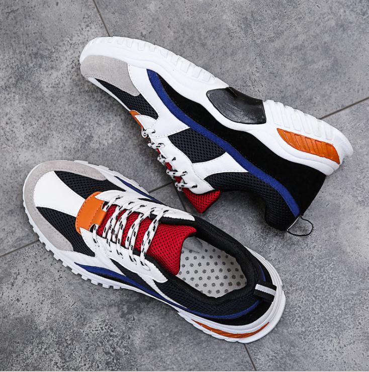 Moda Sapatos Tenis Homens Cesta red Hombre Spor Ayakkabi Sneakers Zapatos Sapatilhas De Erkek Masculino Black gray Casuais Adulto Respirável 2019 qgRn0dg