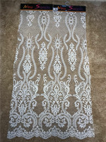 French beaded Lace Fabric for wedding dress IVORY lace embroidered applique DIY party dresses fabrics