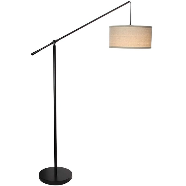 finest selection 8bc47 c8ae1 US $131.22 19% OFF|modern Living Room LED Arc Floor Lamp for Behind The  Couch Pole Hanging Light to Standing light for bedroom reading study  room-in ...