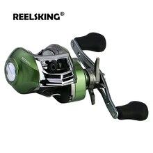 REELSKING Baitcasting Reel Magnetic Brake 6KG Max Drag 17+1  7.1:1 High Speed Fishing