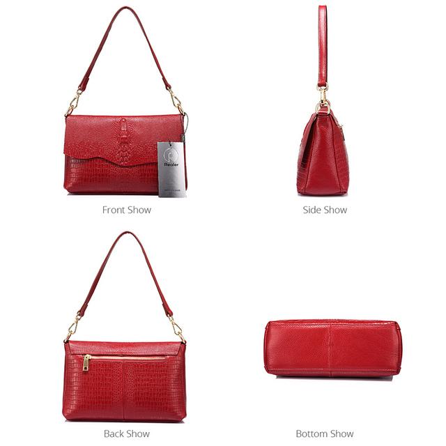 Kvinder ægte læder skulder taske messenger
