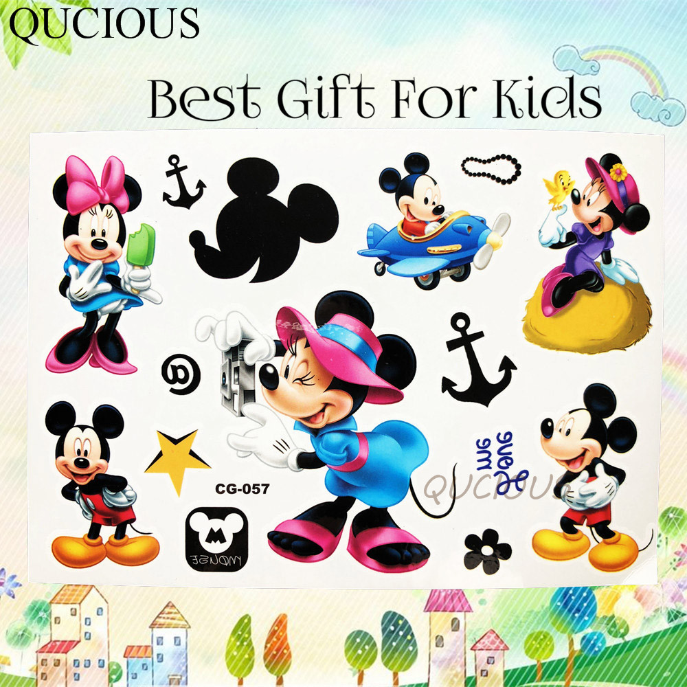 Us 0 73 Famous Cartoon Tatoo Temporary Minnie Mickey Mouse Tattoo For Boys Girls Gifts Waterproof Kids Toys Fake Tattoo Sticker Body Art In