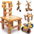 Многофункциональный стул монтажный инструмент гайки автомобилей lubanjiang стул стул ребенка развивающие игрушки бутылках