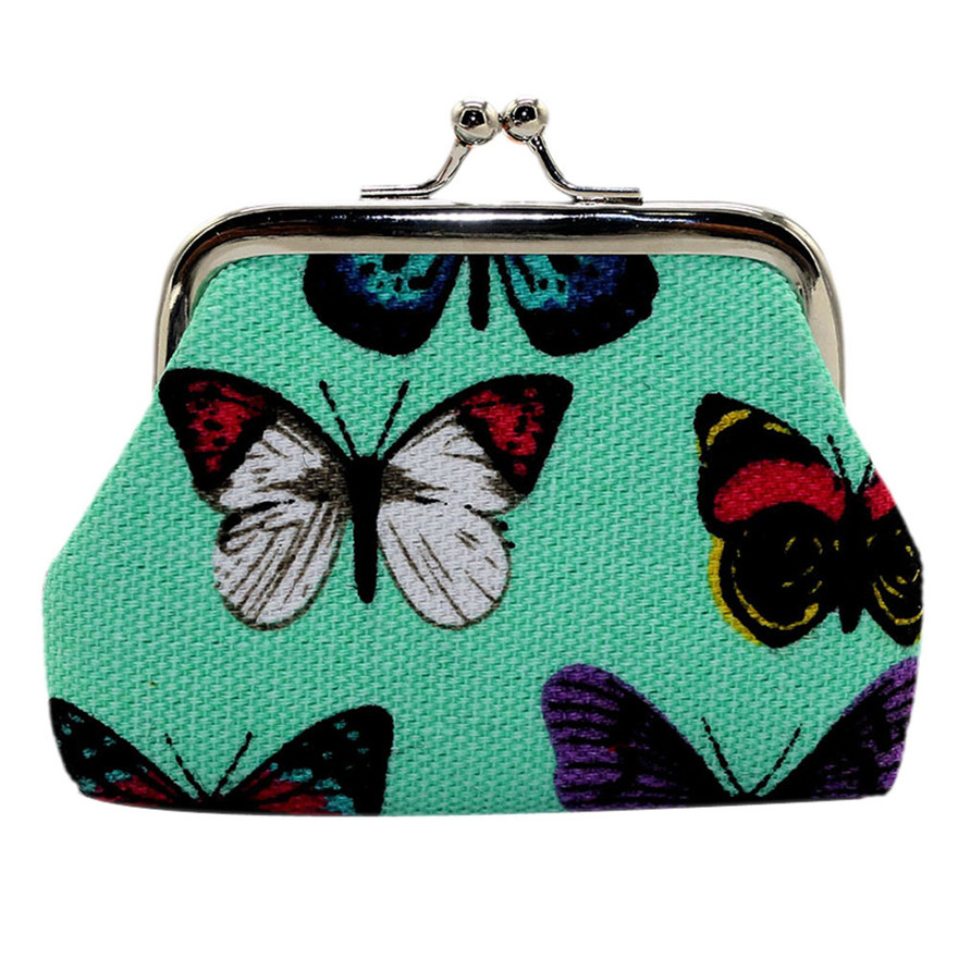 Women Lady Butterfly Small Wallet Hasp Purse Clutch Bag Lightweight Portable Coin Purse Cash Hasp clutch Bags porte monnaie
