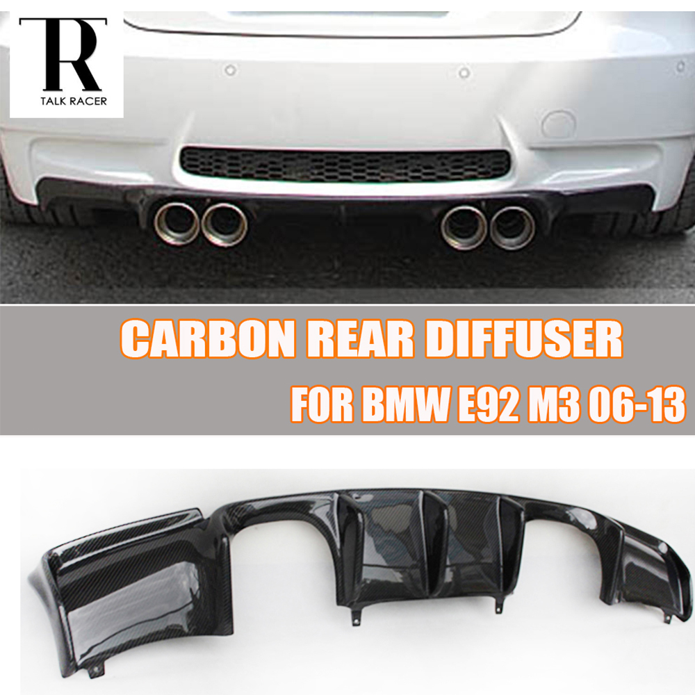 E92 E93 M3 Carbon Fiber Rear Bumper Lip Diffuser Spoiler for BMW E92 M3 Coupe E93 M3 Convertible 2006 - 2012