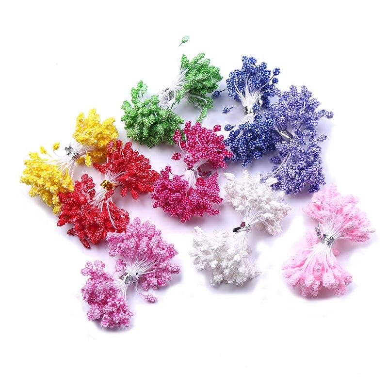 8bdbbd88efc 90 unids lote multicolor al por mayor DIY Flor de espuma 5mm estambre  decoración de la torta y el bricolaje pistilo estambre