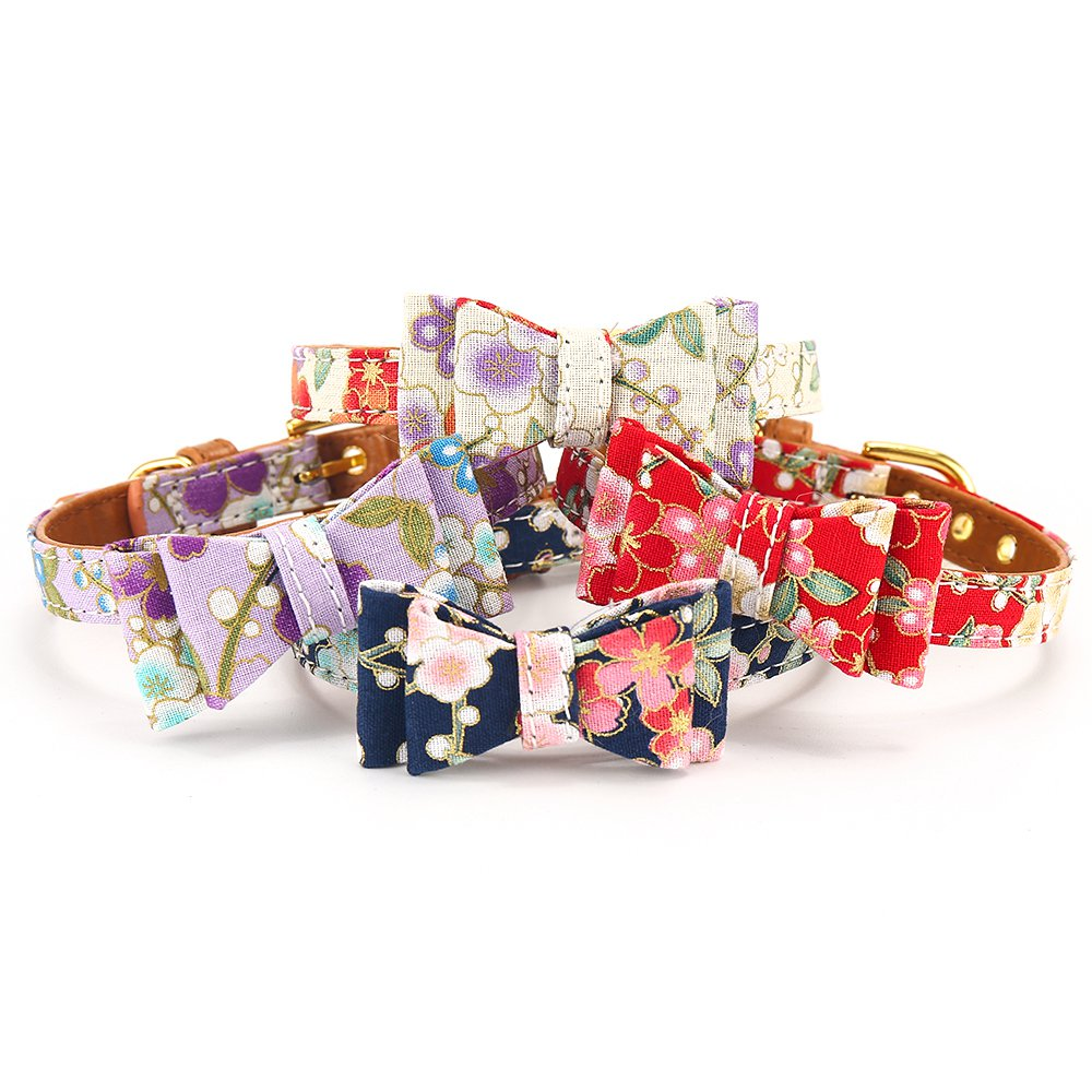 Cat Collar With Bell Dog Collar For Cats Solid Braid Kittens Pet Cat Collars Shiny Adjustable Collars For Cats Pet Lead Supplies (10)