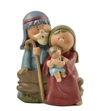 ENNAS Collection  2.48″ Tall Mini Jesus Born Nativity Sets Holy Family Figurine Christmas Decoration