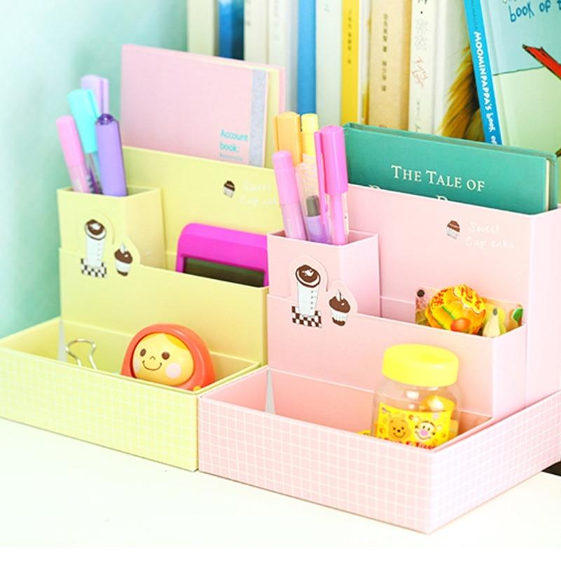 Paper Board DIY Pencil Case Storage Box Desk Decor ...
