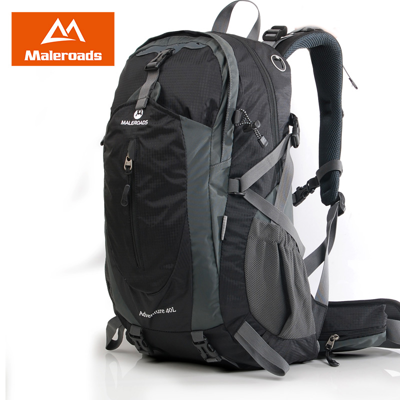 Maleroads 50L 40L Classic Camp Hike Backpack Waterproof Nylon Travel Mochilas Climb Bagpack Teengers Laptop Bags For Men Women large 75l feel pioneer professional waterproof cr travel backpack camp hike mochilas climb bagpack laptop bag pack for men women