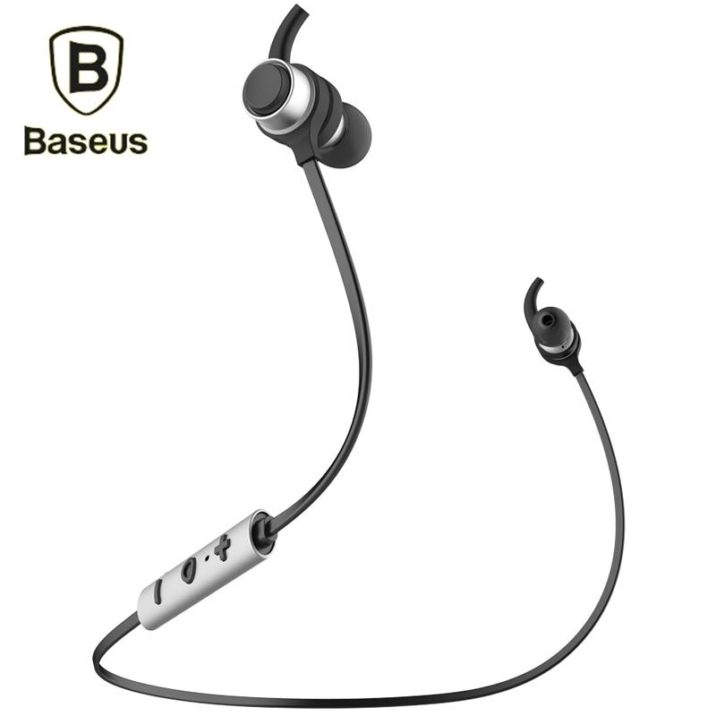 Baseus Wireless Bluetooth 4.1 Stereo In-Ear Earphone For iPhone 7 Samsung S8 HiFi Music Earbuds Headset Sport Running Headphone baseus magnetic bluetooth earphone for iphone 7 samsung s8 wireless sport running stereo in ear earbuds headset mp3 mp4 earpiece