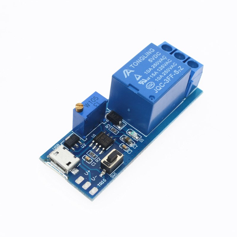 5V-30V Delay Relay Timer Module Trigger Delay Switch Micro USB Power Adjustable Relay Module Free Shipping