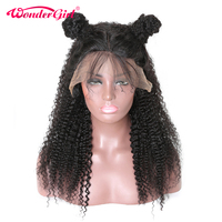 Brazilian Lace Front Human Hair Wigs for Women Afro Kinky Curly Wig With Baby Hair Pre Plucked Non remy Wonder girl