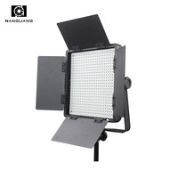 36W Lightweight LED Panel Studio Light With V Mount Battery Plate 2.4G Wireless Control and LCD Display