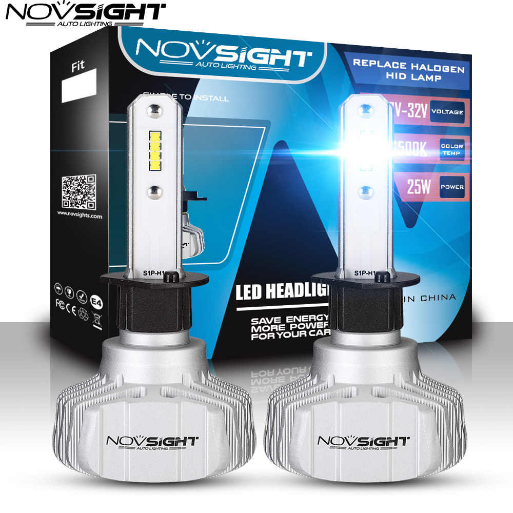 NOVSIGHT H4 Led H7 Auto Led Headlight H11 H3 Bulb H1 9005 HB3 9006 Hb4 CSP LED Headlight 50W 10000 LM Auto Fog Light 6500K 12V