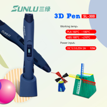 Original SL-300 Intelligent 3D Drawing Pen Supremery Printing Advanced with Safety Holder pen