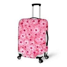 8475e258b21a Специализированный образ красивый цветок печати красочные камера Чехол  защитный чемодан крышка костюм нести на багаж сумка