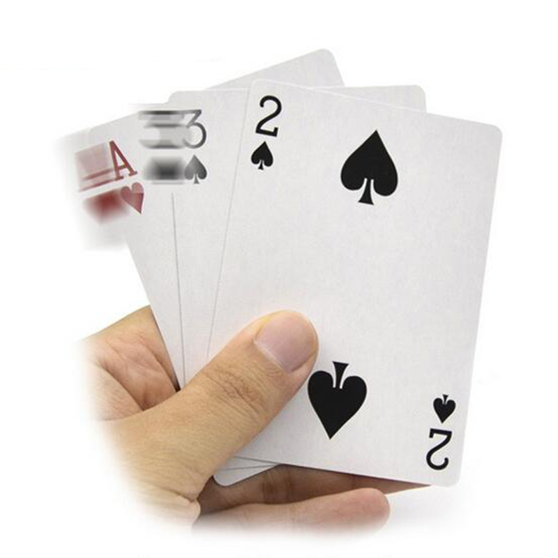 1 Pcs 3 Cards Monte Magic Card Three Card Poker Monte Card Trick Easy Classic Magic Tricks For Close Up Magic Illusion(China)
