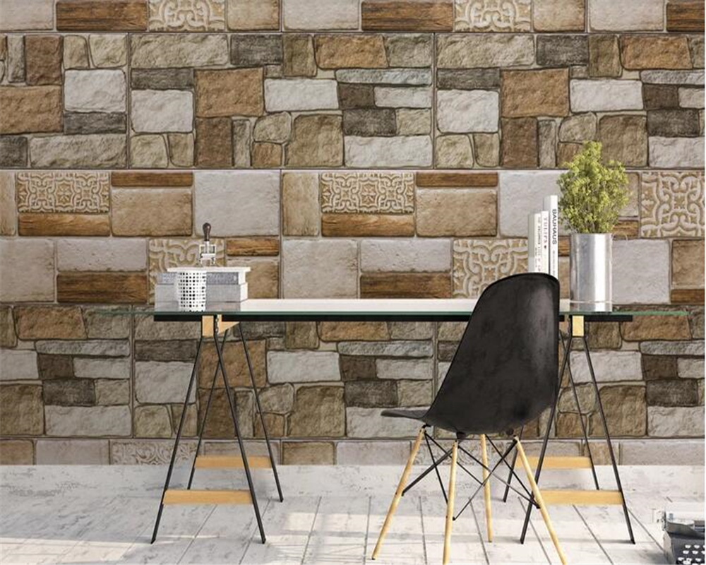 beibehang Vinyl wall papel de parede 3d Nostalgic vintage wallpaper hand painted brick wall sport background brick wallpaper 3d