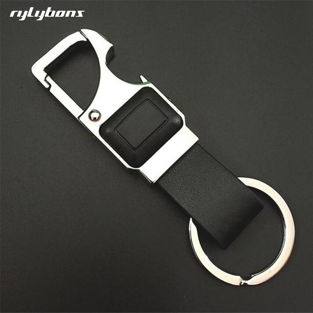 Rylybons Neue Metall Fur Bmw Auto Keychain Leder Manner