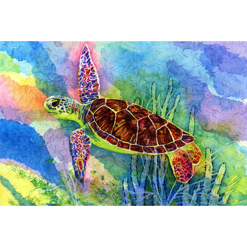 5d diy Diamond embroidery colorful tortoise painting Cross Stitch full square drill Rhinestone mosaic home in Diamond Painting Cross Stitch from Home Garden