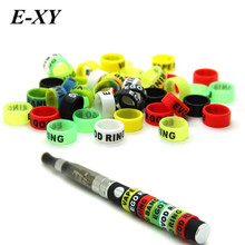 E-XY 30pcs Ecig silicone bands 13mm vape ring for ego series batteries decorative and protection resistance vape bands for vape