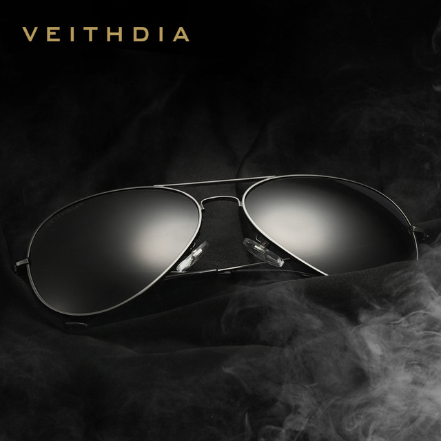 VEITHDIA Brand Fashion Polarized Sunglasses Men/Women Colorful Reflective Coating Lens Eyewear Accessories Sun Glasses 3026