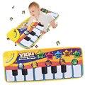 Esteira Esteiras Tipo de Toque Jogo de música de Piano Eletrônico Multifuncional Jogo Do Bebê Engatinhando Tapete Animal Canta Sons Melhores Brinquedos para KidsWJ309