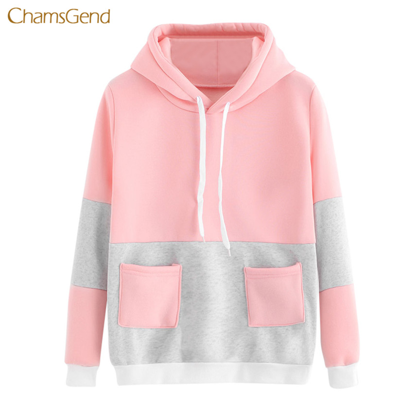 Shop2723001 Store CHAMSGEND 2017 Hoodies Women Hoodies Winter Warm Women Letter Printing Hoodie Sweatshirts Womens Long Sleeve Hooded Sweatshirt
