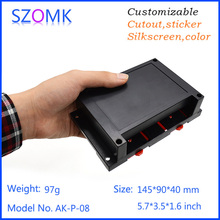 1 psc szomk145*90*40mm  high switch sticker  abs plastic din rail housing pcb  junction box for electronics