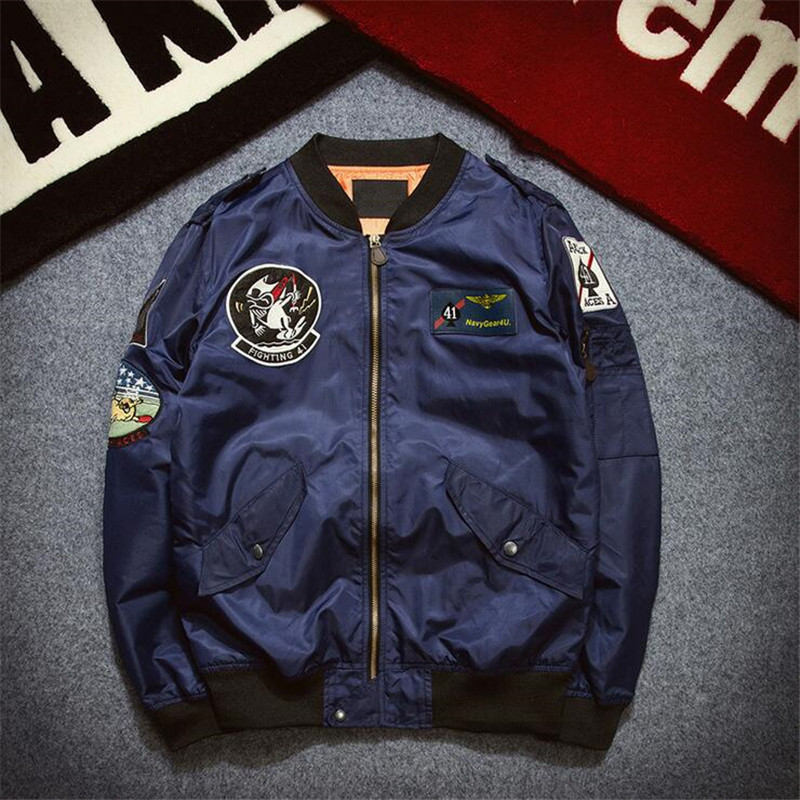 Aliexpress.com : Buy ABOORUN Mens MA1 Bomber Jacket 2016 New ...