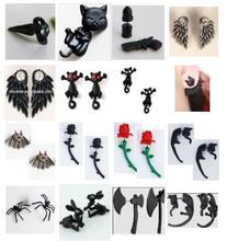 Super Deal multi styles 1 pair free shipping punk gothic earring animal earring punk earrings free styles costume earring