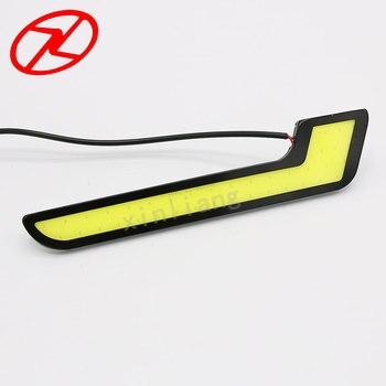 2pcs Universal COB LED Daytime Running Lights automobiles L - Shape DRL Lighting 8