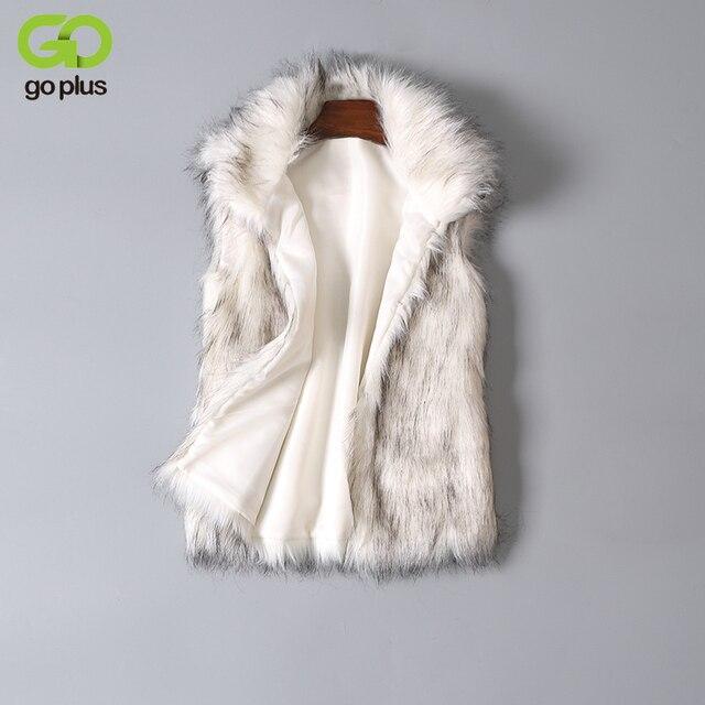 GOPLUS New 2018 Long Fur Vest Winter Women Luxury Faux Fox Fur Vest Furry Slim Women's Fake Fur Vest Plus Size Faux Fur Vest