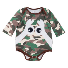 New Newborn Spring Autumn Baby Girl Boy Newborn Infant Clothes Camouflage Cotton Long Sleeve Romper Baby Boy Jumpsuit Infantil