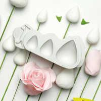 Fleur Rose cônes et épines Texture moule Silicone moule Fondant gâteau décoration outil Gumpaste Sugarcraft Rosebud formes