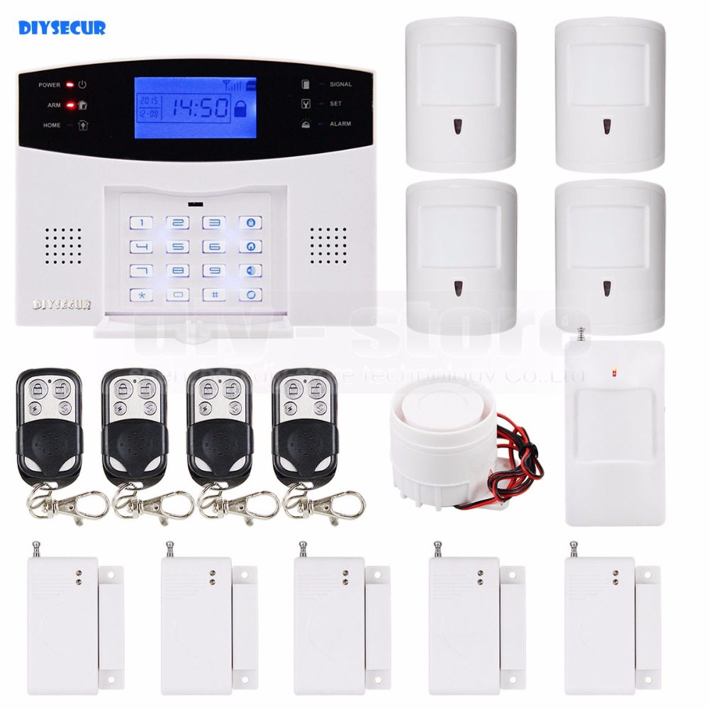 DIYSECUR DIY 99 Wireless 7 Wired Defense Zones Gsm Sim Alarm System Kit Pet-Immune Pir Motion Detector daily immune defense в москве