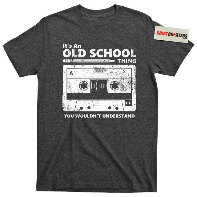 T Shirt Vintage Cassette Old School