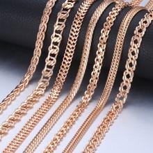 Personalizar Collar para los hombres y las mujeres 585 oro Venecia frenar Caracol Foxtail enlace collar de cadena de joyería de moda 50 cm 60 cm CNN1