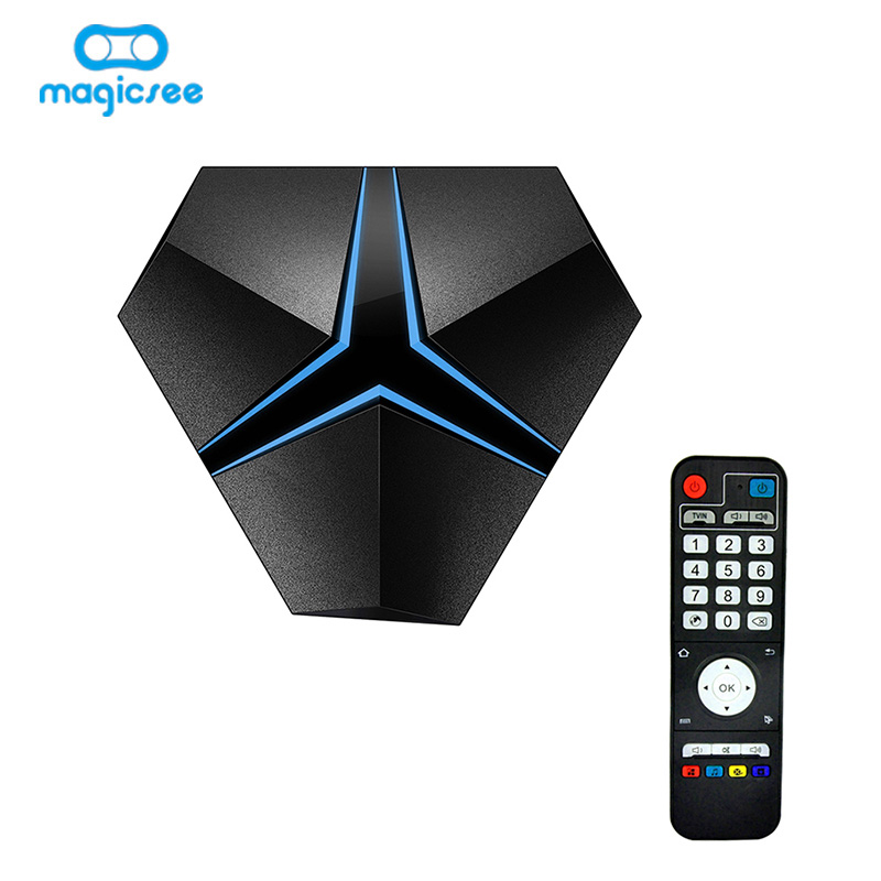 Magicsee Iron+ Android 7.1 TV Box Amlogic S912 Octa Core 3G 32G 2.4G/5.8G Wifi suppot OTA Update Lan 1000M BT4.1 4K Smart TV Box телеприставка vsmart m8 amlogic s802 2 8 2ghz 4k android ota hdmi bluetooth 4 0